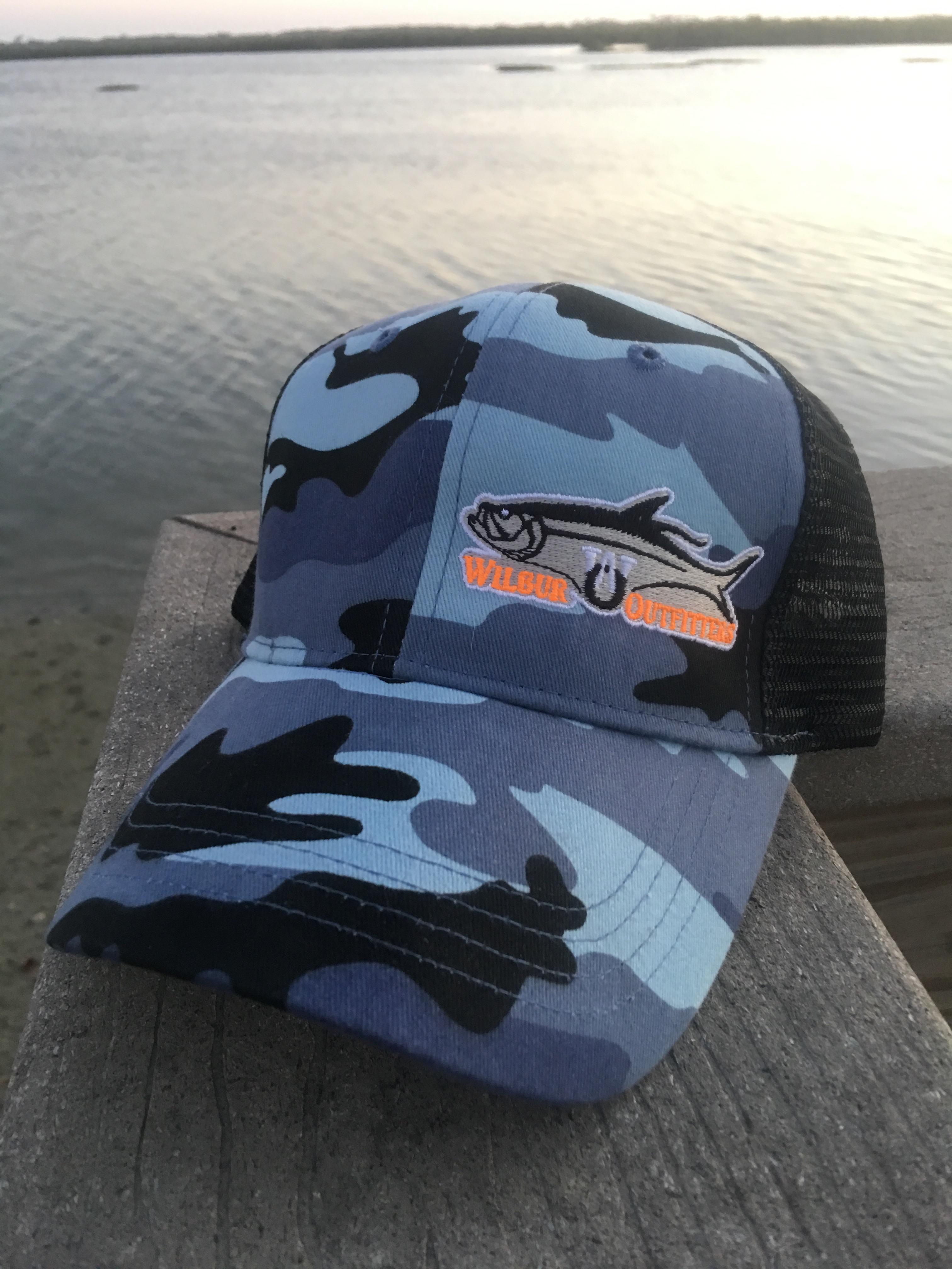 Blue Camo Trucker Hat – Wilbur Outfitters e2e8d58eceb